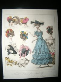 World of Fashion 1827 Hand Col Fashion Print 03